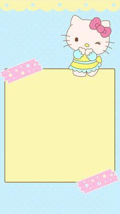 堆糖-美好生活研究所 Hello Kitty Backgrounds, Hello Kitty Wallpaper, Cute Wallpapers, Wallpaper Backgrounds, Iphone Wallpaper, Sanrio Characters, Cute Characters, Hello Kitty My Melody, Hello Kitty Pictures