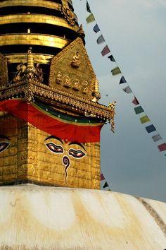 Nepal kathmandu temple buddhism prayer flag