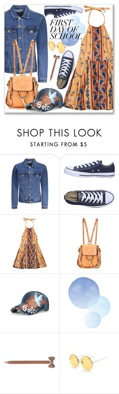 """Casual Campus Chic: First Day of School"" by jecakns ❤ liked on Polyvore featuring Converse, Chloé and John Lewis"