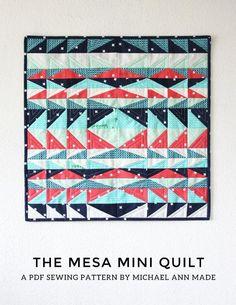 Mesa Mini Quilt via Craftsy