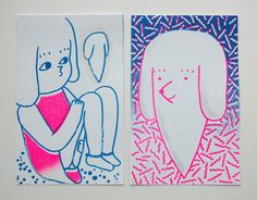 The+Apparition+of+Ghost+Dog+Risograph+Prints+by+ginettepomette,+$10.00