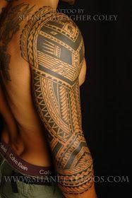 SHANE TATTOOS: Polynesian 3/4 Sleeve