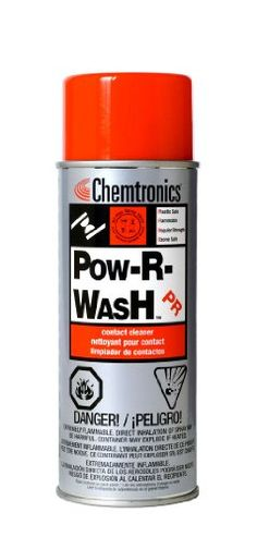 Chemtronics Pow-R-Wash Electronics Cleaner - Spray 340 g Aerosol Can - ES1605 [PRICE is per CAN] Chemtronics