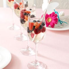 Mixed Berry Sangria. Make with Sutter Home Bubbly Moscato.