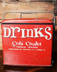 Take a vintage Cola Cooler, add some Sparkly Letters--and now you have a great cooler to display!