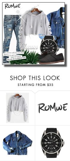 """""""Romwe contest"""" by asjaturguling ❤ liked on Polyvore featuring Yves Saint Laurent, Gucci and ED Ellen DeGeneres"""