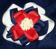 Red White and blue hairbow