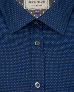 Circle jacquard shirt - Blue | Shirts | Ted Baker www.MadamPaloozaEmporium.com www.facebook.com/MadamPalooza