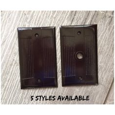 Brown Bakelite Wall Switch//Outlet Combo Plate Vintage NOS Switchplate Art Deco