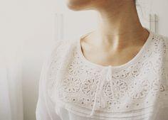 eyelet . blouse . fashion