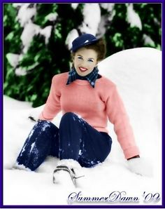 Marilyn Monroe/Norma Jean in the snow