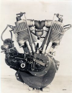 "The ""F-head"" engine becomes a workhorse of the Harley-Davidson motorcycle until 1929. 