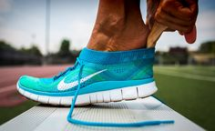 Nike Free Flyknit+ - I need these! Minimalist with a little support paired with knit, stretching fabric. Essentially a $100+ pair of running socks