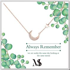 Ever Lasting Star and Moon Friendship Necklace | Gifts for best friends long distance