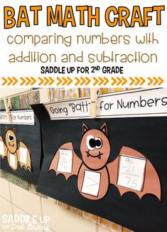 This Bat Math Craft is the perfect way to review multiple skills with a little fun for the month of October. Your students will compare the sums and difference of addition and subtraction problems. They can create their own or use the pre-made templates provided. There are 3 types of pre-made problems included for easy differentiation.