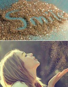 .Glitter smile