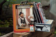 "Vinyl-Klemmbrett A5 ""Edelweiß"" Shops, Vinyl, Magazine Rack, Storage, Home Decor, Paper, Stationery Set, Boards, Purse Storage"