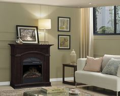 Custom Bronte Mantels electric fireplaces