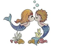embroidery free download: Download Free Love of the Mermaid Machine Embroidery