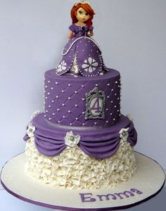 Inspiration Picture of Princess Sofia Birthday Cake Princess Sofia Birthday Cake Princess Sofia Themed Birthday Cake Cakecentral Princess Sofia Cake, Princess Sofia Birthday, Sofia The First Birthday Cake, Themed Birthday Cakes, 3rd Birthday, Birthday Ideas, Bolo Sofia, Disney Themed Cakes, Prince Cake