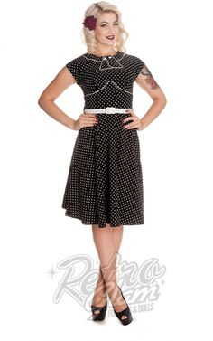 Retro Glam - Hell Bunny Noreen Dress in Black