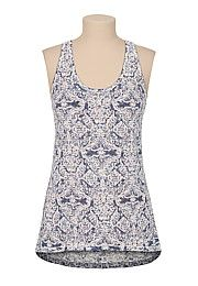 High-low printed racerback tank - maurices.com