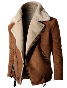 DOUBLJU - Find your look. : fashion style Mens jacket Neck Suede Jacket With Zipper Point Sleeves Fashion Mode, Look Fashion, Winter Fashion, Mens Fashion, Revival Clothing, Men's Clothing, Sport Outfit, Men Closet, Sharp Dressed Man