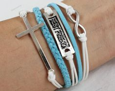 cross braceletslove braceletsfriendship by lifesunshine on Etsy, $6.99