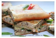 Martabak Tuna Mushroom   Indonesia Eats   Authentic Online Indonesian Food Recipes