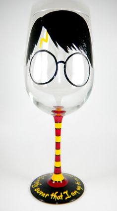 Harry Potter inspired Wine Glass by ImpulsiveCreativity on Etsy. I need this in my life like nobody's business.