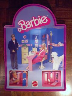 RARE 1984 Store Display Poster for Day to Night Barbie Ken Poodle Dog Prince | eBay