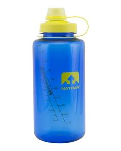 Nathan Big Shot Water Bottle has a sip friendly narrow spout and a wide mouth for easy filling and cleaning.