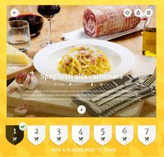 Maak alle 7 pastaklassiekers, ontvang de 7 badges en noem jezelf een echte Pasta Maestro! Dowload de gratis Pasta Maestro app en ga aan de slag.