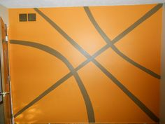 Hand Painted Basketball Wall for my son