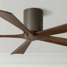 Minka Aire Light Wave 52 Inch LED Ceiling Fan In Distressed Koa Finish