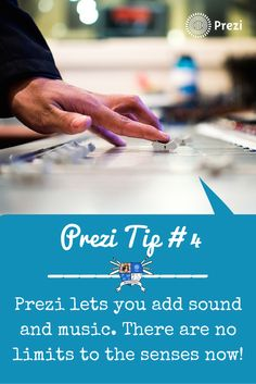 No more mute presentations! Prezi lets you get your groove on with sound.  https://www.youtube.com/watch?v=FyiDZPR7YwA&index=36&list=PL09A34EF19596B7BB