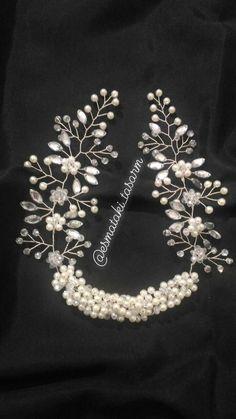 Gelin tacı Hair Jewels, Hair Beads, Bridal Crown, Hair Vine, Bridal Headpieces, Braided Hairstyles, Beaded Jewelry, Braids, Hair Accessories