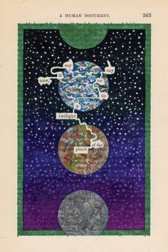 Page A Humument: Twilight of the Planet, 2010 by Tom Phillips on Curiator, the world's biggest collaborative art collection. Tom Phillips, Round Robin, Found Poetry, Blackout Poetry, Book Page Art, Poetry Art, Collaborative Art, Book Projects, Project Ideas