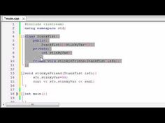 Buckys C++ Programming Tutorials - 48 - friend
