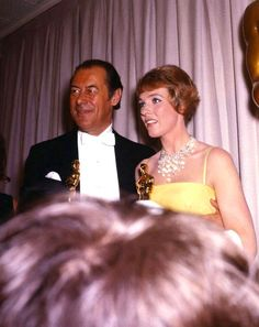 Best Actress, Julie Andrews in Mary Poppins and Best Actor, Rex Harrison in My Fair Lady during the Acedemy Awards, 1965 Best Actress Oscar, Oscar Night, Christopher Plummer, Academy Award Winners, Julie Andrews, Hooray For Hollywood, My Fair Lady, Breath In Breath Out, Her Smile