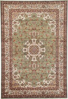 Tabriz Light Green Area Rug