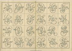 Rosebud Monogram Sajou No 661