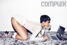 Rihanna keeps up the behavior with Complex cover. - Listen here --> http://beats4la.com/rihanna-behavior-complex-cover/