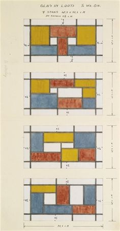 Artwork by Theo van Doesburg, FENSTERENTWURF (DESIGN FOR A STAINED GLASS WINDOW), Made of gouache and pencil on paper Modern Words, Modern Art, Hans Richter, Theo Van Doesburg, Francis Picabia, Animal Graphic, Piet Mondrian, Action Painting, Constructivism