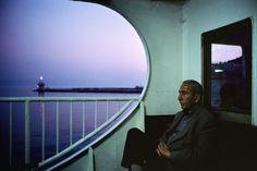 Turkey, Istanbul 2001. On board a ferry at dusk near the Princess Islands, Alex