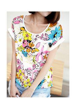 Floral Pattern Top, iAnyWear