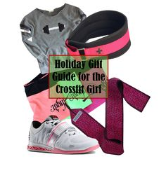 Holiday Gifts for a Crossfit Girl, including sweatshirt from Fran's Closet RX, weightlifting belt from Harbinger Fitness/HumanX, shorts from Jekyll Hyde Apparel, Wrist wraps from Beastette Apparel, Lifter Shoes from Reebok @jekyllhydeapp @1beastette1