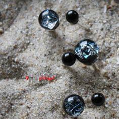 Herzschlüssel: Ringe, Glasperlen, Schmuck, glassbeads, lampwork