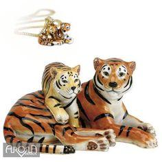 Hidden Treasures 154-HT-WEYE Trinket Box Watchful Eye Tiger
