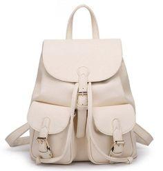 Amazon.com: Tinksky Women Pure Color Pu Leather Backpack Casaul Shoulder Bag Schoolbag Pink: Clothing